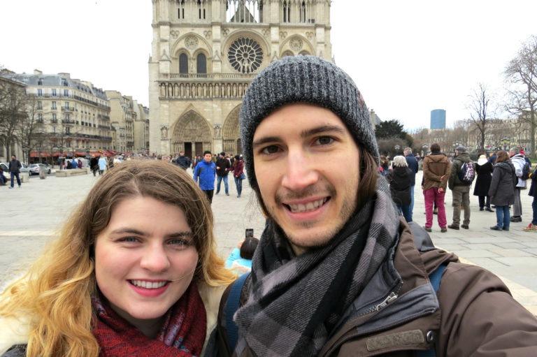 Paris - Outside Notre-Dame