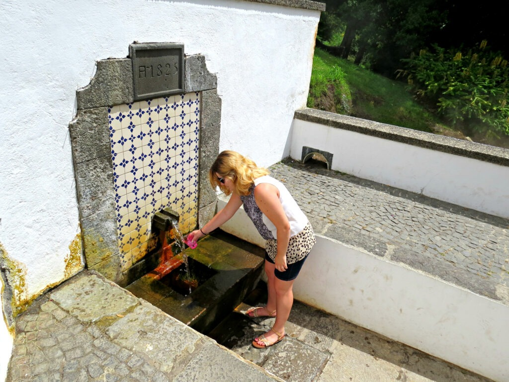 Furnas water spring tasting