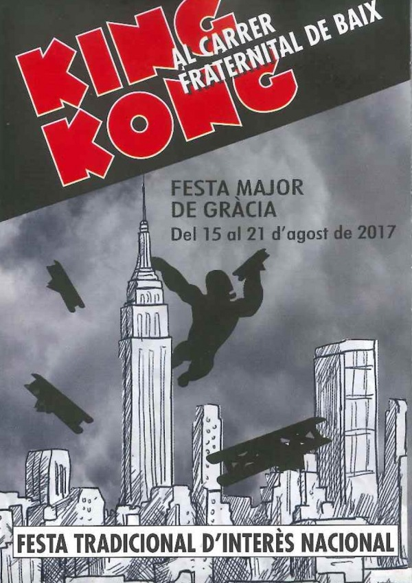 Gracia Barcelona - King Kong Poster