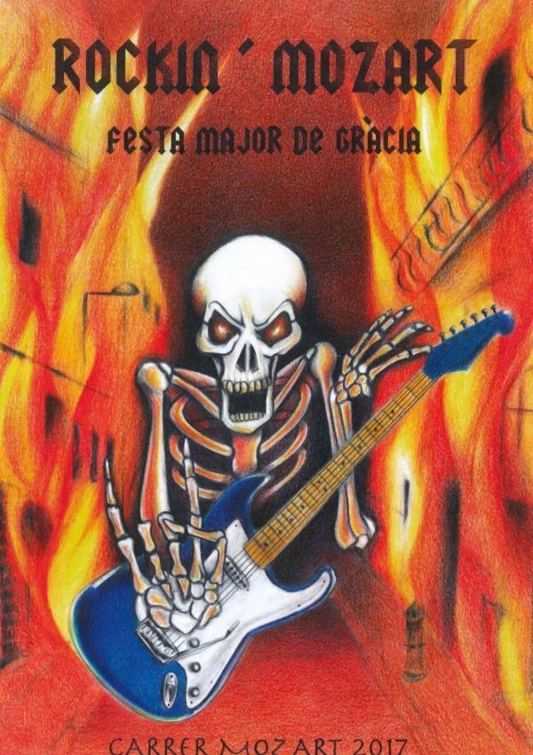 Gracia Barcelona - Rockin' Mozart Poster