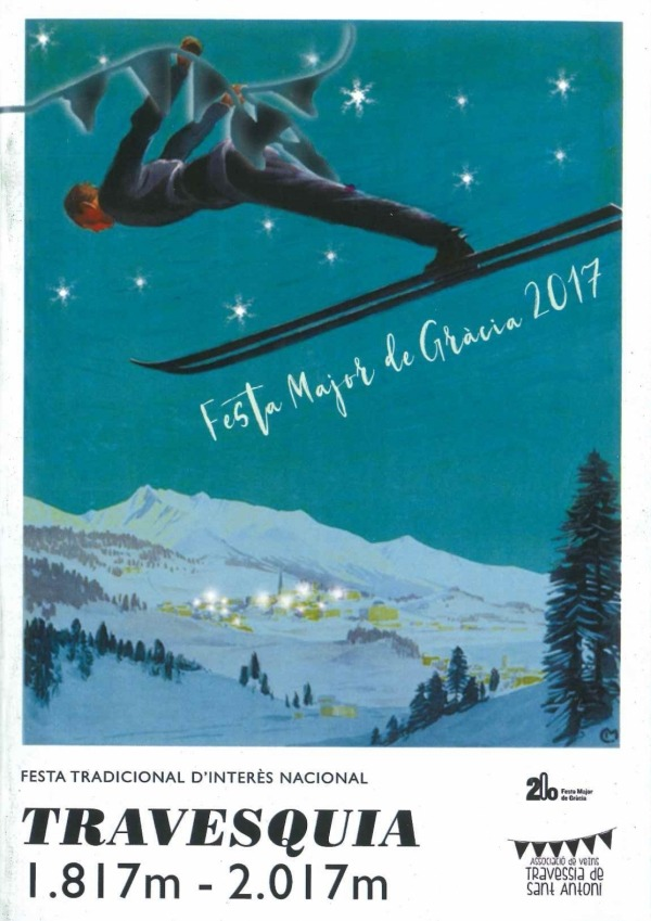Barcelona Gracia - Ski Poster