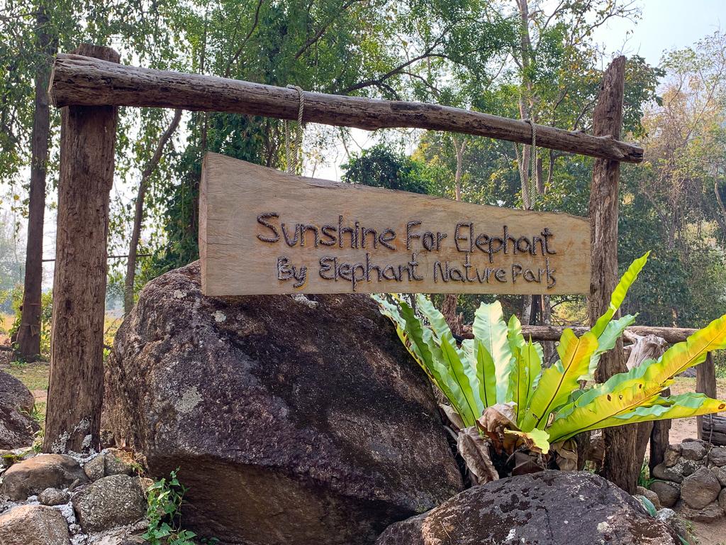 Sunshine for Elephants sign