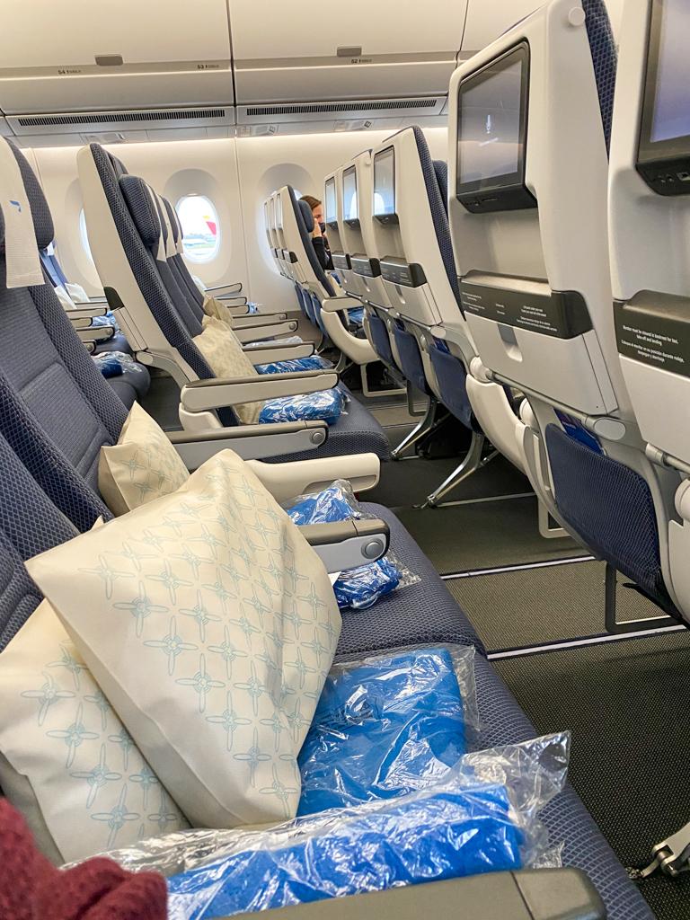 transatlantic trip airplane