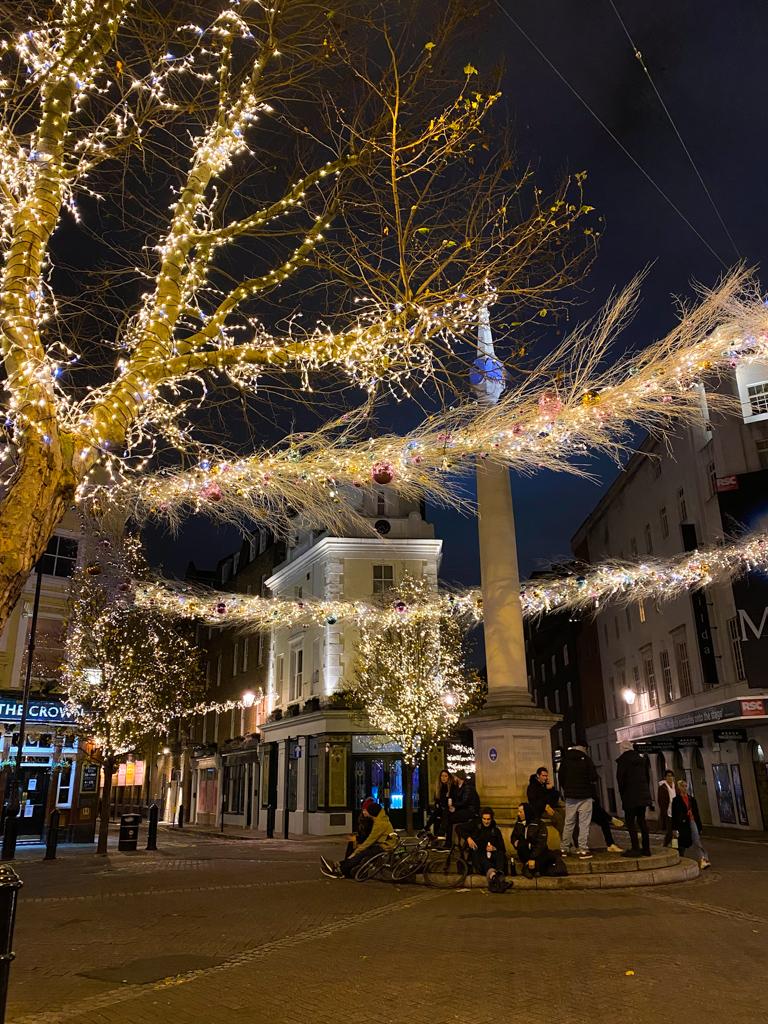 seven dials london christmas lights
