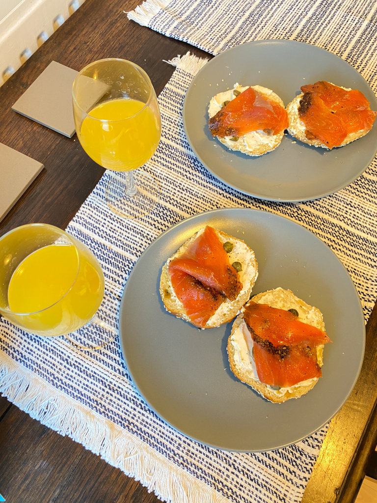 christmas day bagel and lox