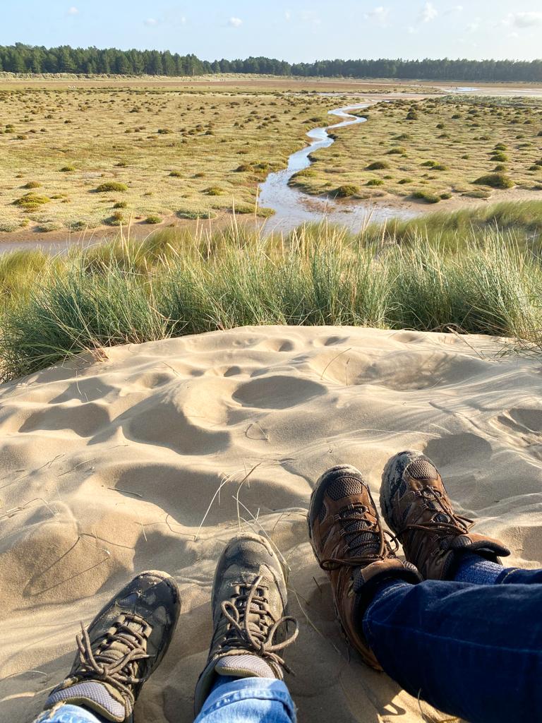 hiking sand dunes
